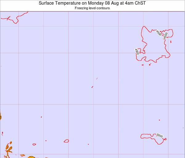 Guam Surface Temperature on Monday 04 Aug at 4am ChST