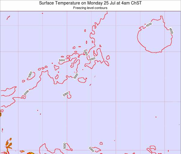 Guam Surface Temperature on Sunday 27 Apr at 10am ChST