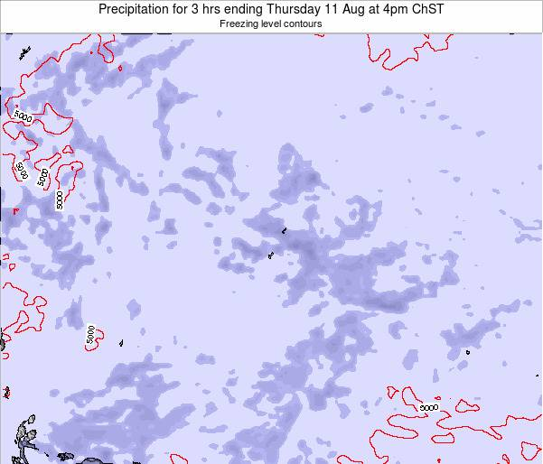 Guam Precipitation for 3 hrs ending Monday 30 Apr at 4pm ChST map