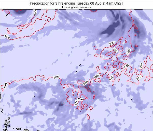 Guam Precipitation for 3 hrs ending Saturday 27 Jan at 10am ChST map