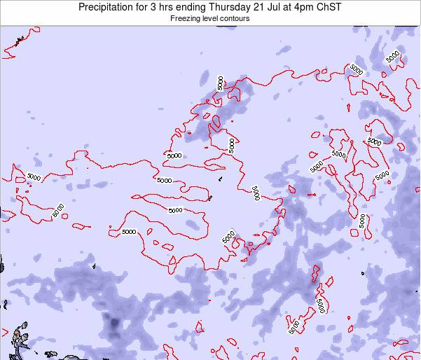 Guam Precipitation for 3 hrs ending Friday 23 Feb at 10am ChST map