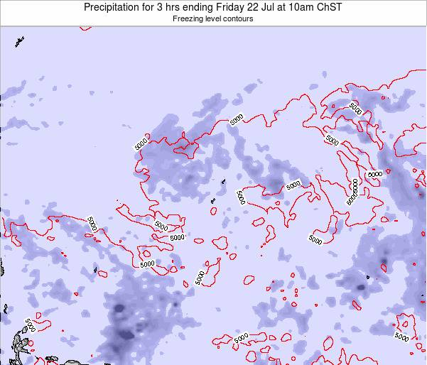 Guam Precipitation for 3 hrs ending Saturday 03 Mar at 10pm ChST map