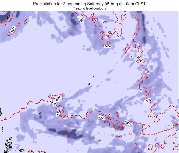 Guam Precipitation for 3 hrs ending Monday 25 Jun at 10pm ChST map