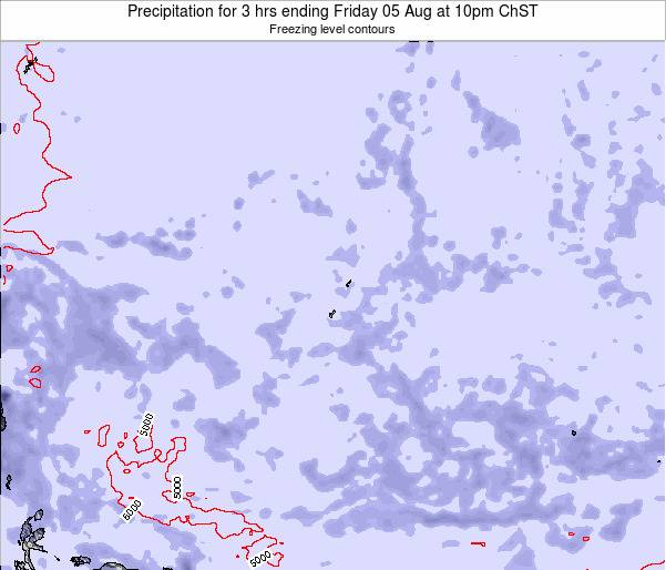 Guam Precipitation for 3 hrs ending Sunday 27 Jul at 4pm ChST