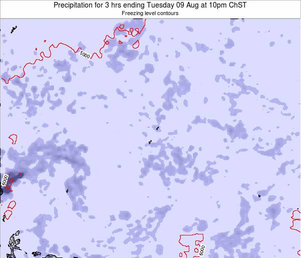 Guam Precipitation for 3 hrs ending Wednesday 23 Apr at 4pm ChST