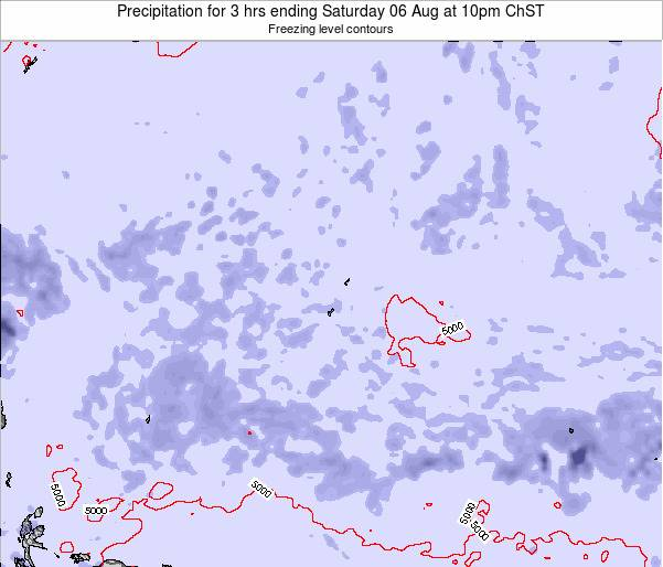 Guam Precipitation for 3 hrs ending Wednesday 03 Sep at 10pm ChST