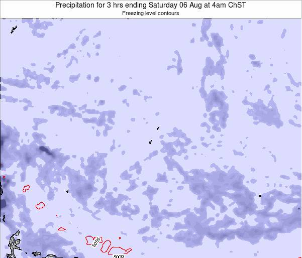 Guam Precipitation for 3 hrs ending Tuesday 28 May at 10am ChST