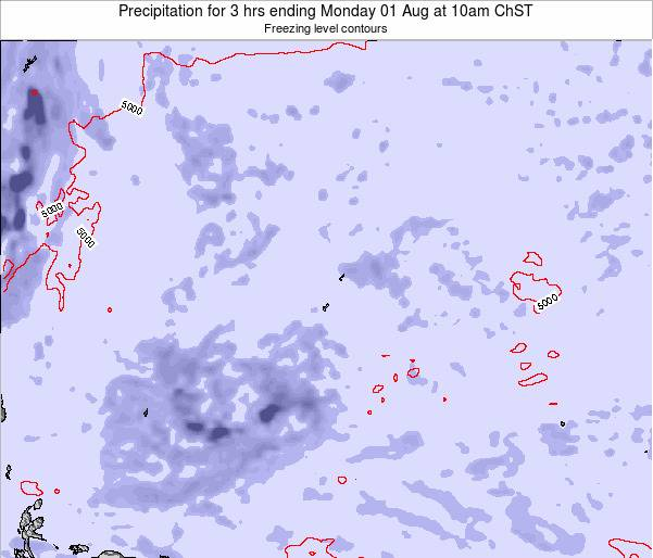 Guam Precipitation for 3 hrs ending Thursday 12 Dec at 4pm ChST