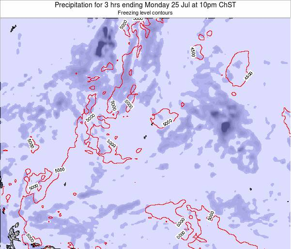 Guam Precipitation for 3 hrs ending Tuesday 21 Nov at 4am ChST map