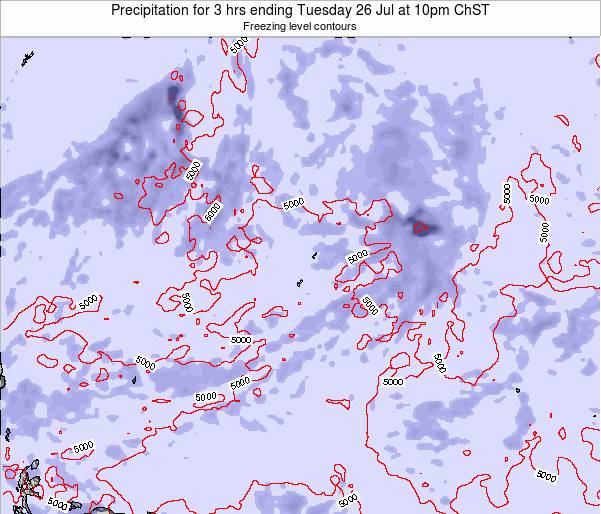Guam Precipitation for 3 hrs ending Tuesday 03 Feb at 10pm ChST