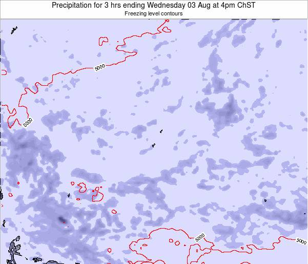 Guam Precipitation for 3 hrs ending Wednesday 26 Oct at 10am ChST