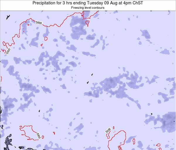 Guam Precipitation for 3 hrs ending Friday 13 Dec at 4am ChST