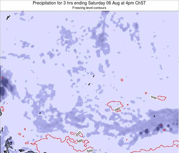 Guam Precipitation for 3 hrs ending Monday 02 Mar at 10am ChST