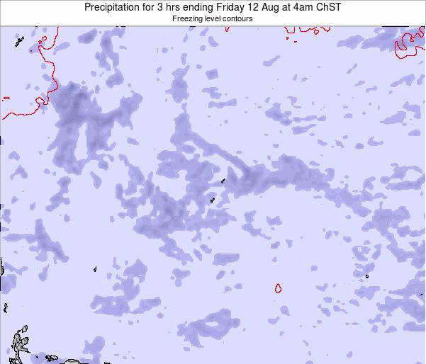 Guam Precipitation for 3 hrs ending Saturday 15 Mar at 4pm ChST