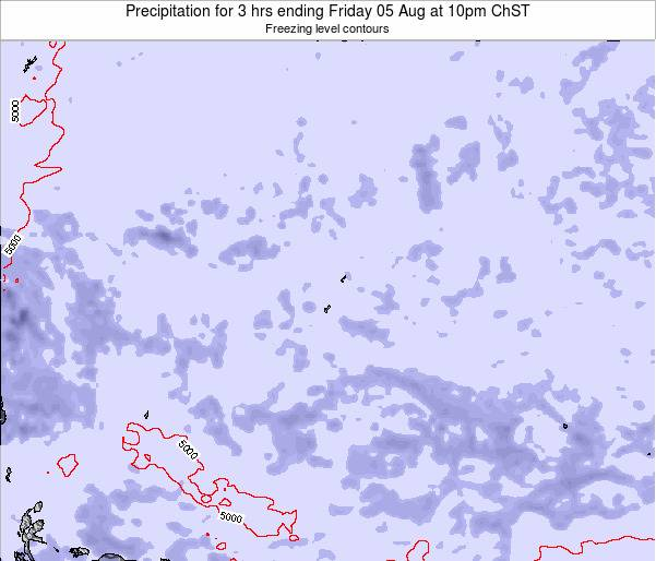 Guam Precipitation for 3 hrs ending Sunday 20 Apr at 4pm ChST