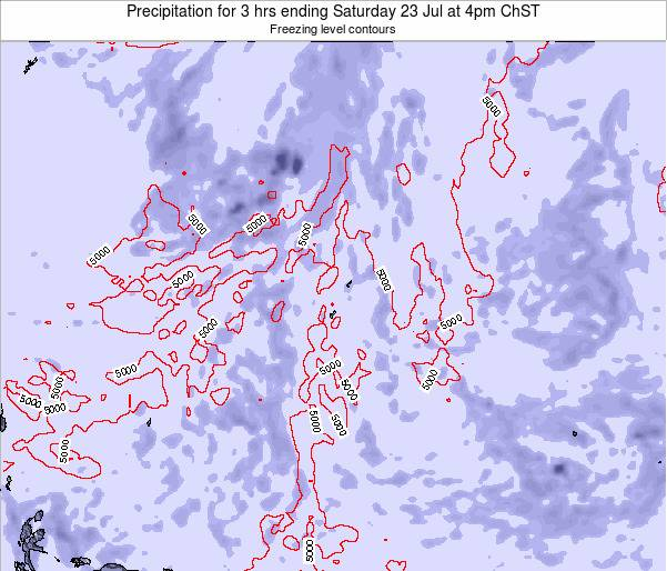 Guam Precipitation for 3 hrs ending Thursday 23 May at 4am ChST