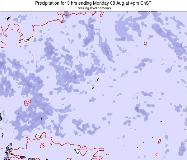 Guam Precipitation for 3 hrs ending Friday 01 Aug at 10am ChST