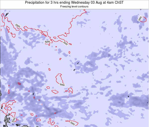 Guam Precipitation for 3 hrs ending Saturday 28 Apr at 10am ChST map