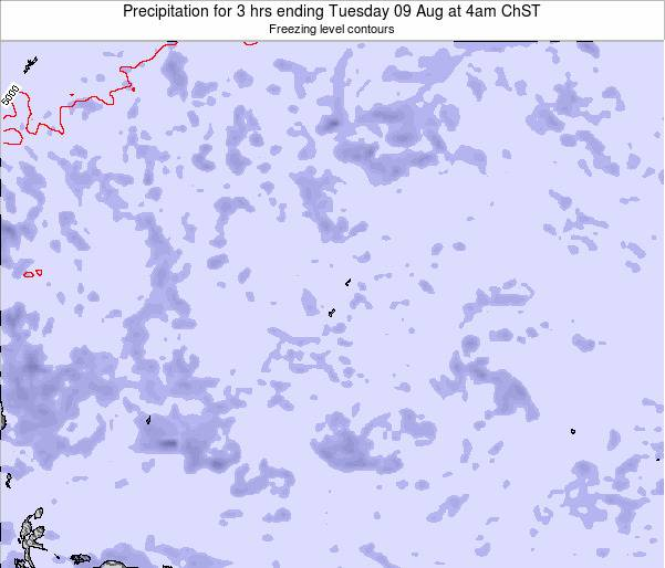 Guam Precipitation for 3 hrs ending Friday 05 Sep at 10pm ChST