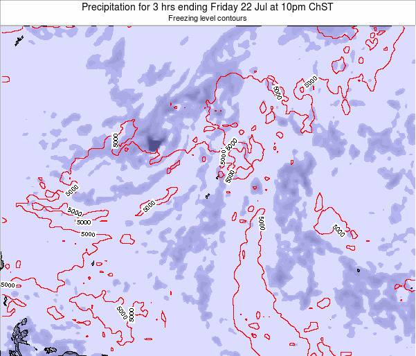 Guam Precipitation for 3 hrs ending Tuesday 03 May at 4pm ChST
