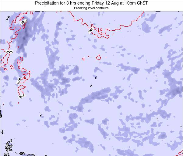 Guam Precipitation for 3 hrs ending Monday 28 Apr at 4am ChST