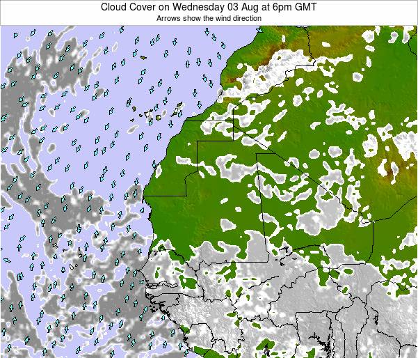 Sierra Leone Cloud Cover on Friday 25 Apr at 6pm GMT