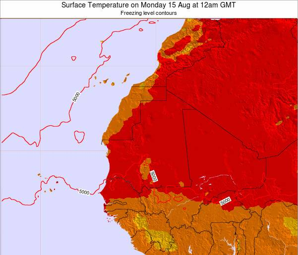 Gambia Surface Temperature on Wednesday 30 Apr at 6am GMT