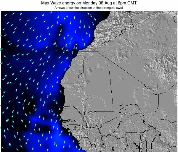 Senegal Max Wave energy on Thursday 23 May at 12pm GMT