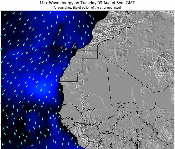 Gambia Max Wave energy on Tuesday 17 Dec at 6am GMT