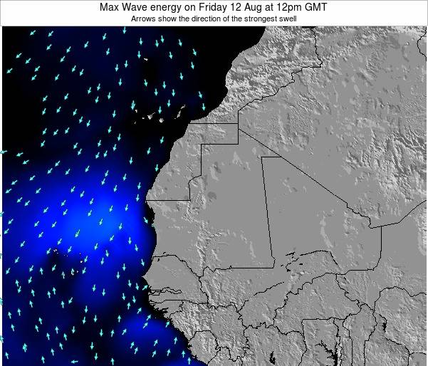 Gambia Max Wave energy on Monday 28 May at 12am GMT map