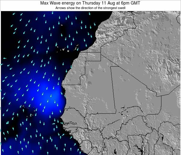 Senegal Max Wave energy on Tuesday 28 May at 12pm GMT