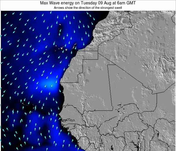 Gambia Max Wave energy on Tuesday 29 Apr at 6am GMT