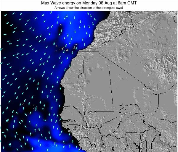Gambia Max Wave energy on Tuesday 04 Nov at 6pm GMT