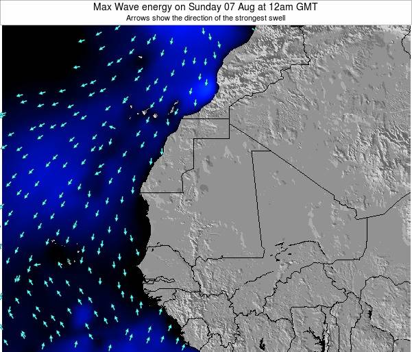 Gambia Max Wave energy on Sunday 05 Oct at 6pm GMT