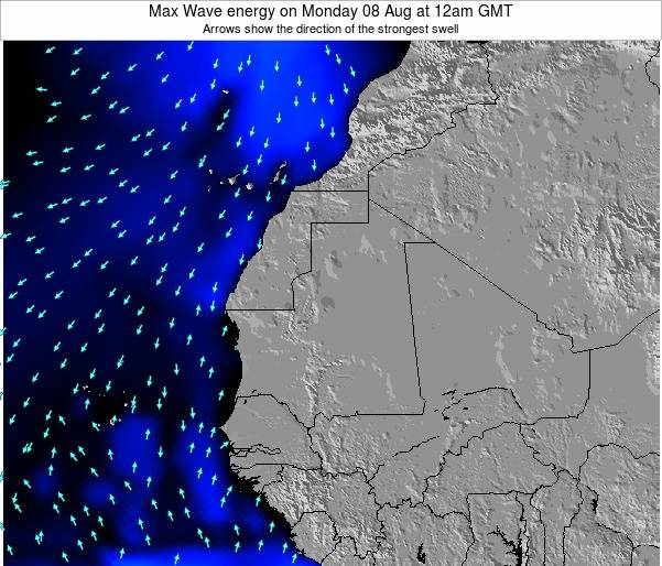 Gambia Max Wave energy on Thursday 24 Apr at 12am GMT
