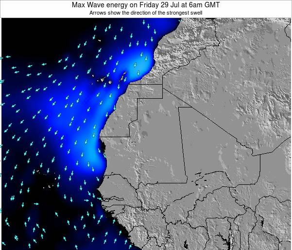 Gambia Max Wave energy on Sunday 02 Jul at 6pm GMT