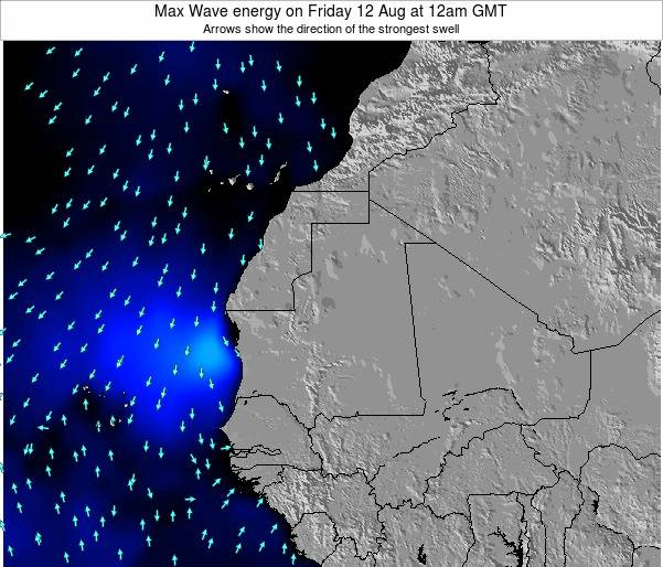 Gambia Max Wave energy on Thursday 23 May at 6am GMT