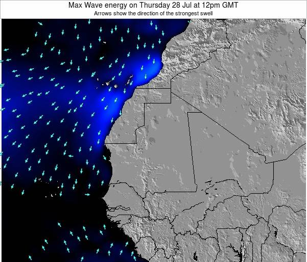Gambia Max Wave energy on Friday 14 Mar at 12pm GMT
