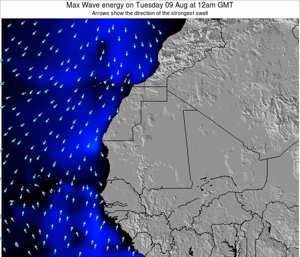 Guinea Max Wave energy on Monday 24 Jun at 12am GMT