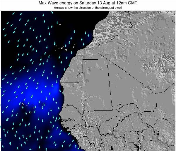 Gambia Max Wave energy on Monday 28 Apr at 12am GMT