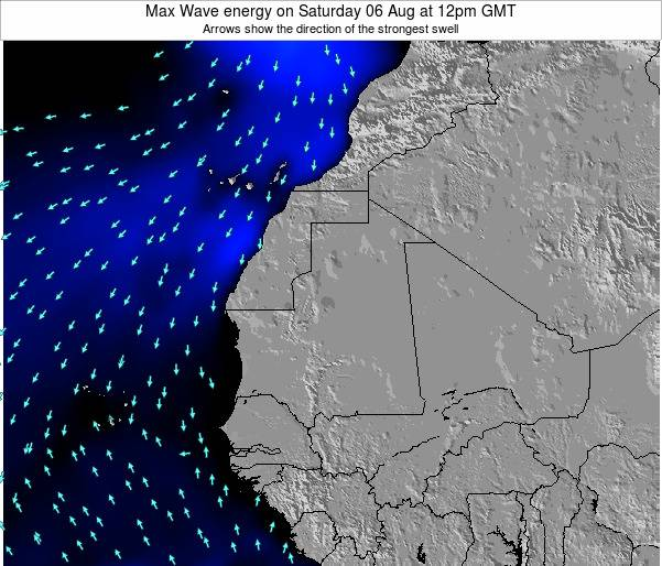 Gambia Max Wave energy on Sunday 05 Oct at 12am GMT
