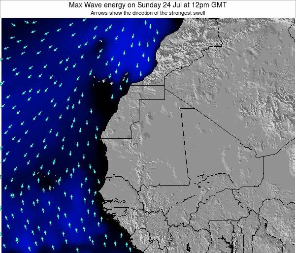 Senegal Max Wave energy on Sunday 23 Jun at 12am GMT