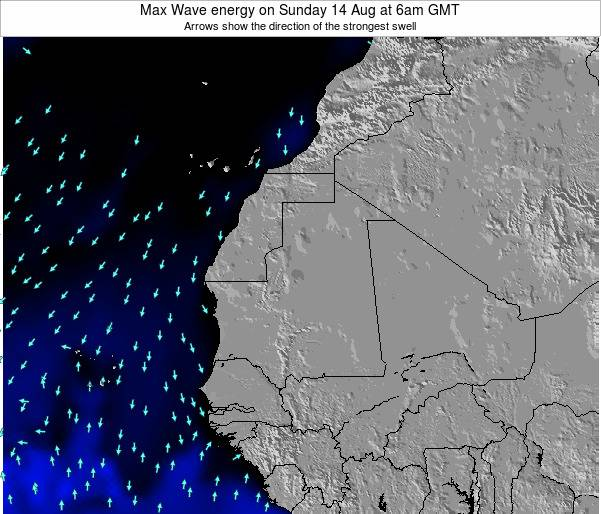 Senegal Max Wave energy on Tuesday 25 Jun at 6am GMT