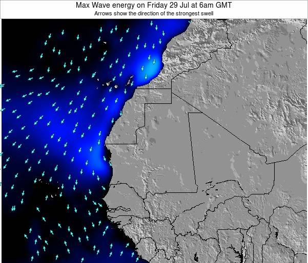 Senegal Max Wave energy on Sunday 26 May at 6pm GMT