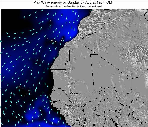 Gambia Max Wave energy on Sunday 02 Oct at 6pm GMT