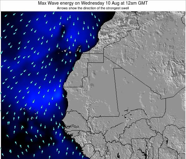 Gambia Max Wave energy on Monday 01 Aug at 6pm GMT