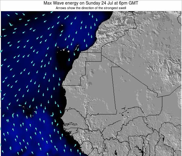Gambia Max Wave energy on Friday 07 Nov at 6am GMT