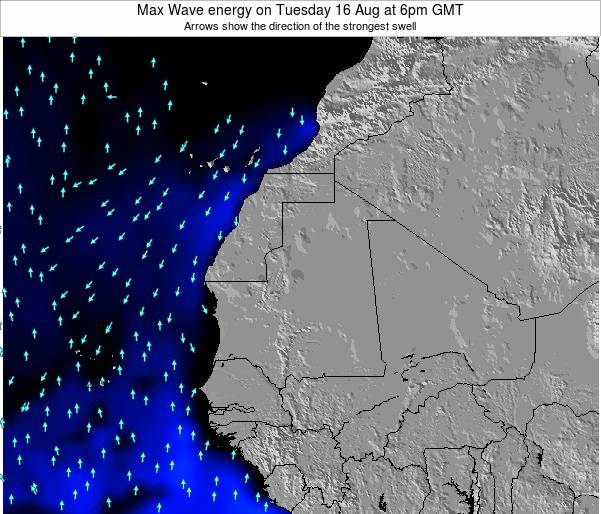 Gambia Max Wave energy on Saturday 14 Dec at 6pm GMT