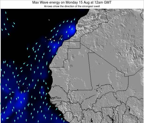 Senegal Max Wave energy on Saturday 01 Jun at 6am GMT