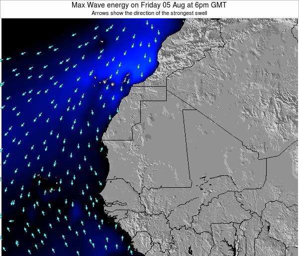 Gambia Max Wave energy on Wednesday 30 Apr at 6pm GMT